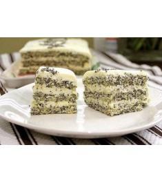 Макове-сирний дієтичний торт