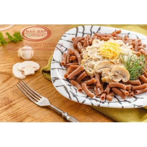 Макарони з грибами у вершковому соусі