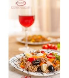 Макаронный салат с тунцом и овощами