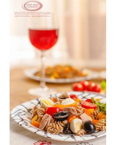 Макароний салат з тунцем і овочами