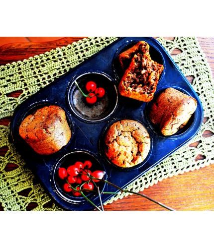 Пісні кекси з яблуком та шоколадними крихтами