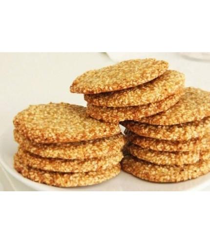 Вівсяне печиво на кефірі з кунжутом