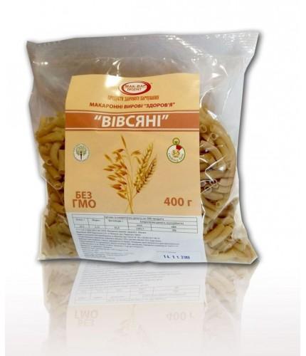 """Макарони """"Здоров'я"""" Вівсяні з борошном із ствердих сортів пшениці(0,4 кг)"""