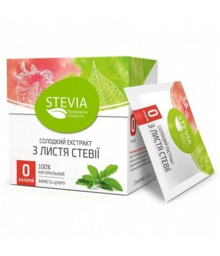 STEVIA - солодкий екстракт, стіки 25 шт*1г