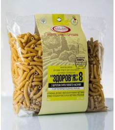 Макарони «ЗДОРОВ'Я» №8 зі шротом насіння гарбуза з твердих сортів пшениці (0,4 кг)