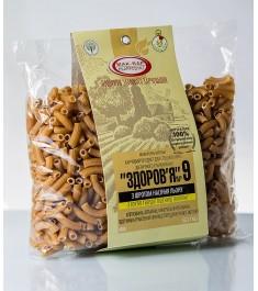 Макарони «ЗДОРОВ'Я» №9 зі шротом насіння гарбуза з твердих сортів (0,4 кг)