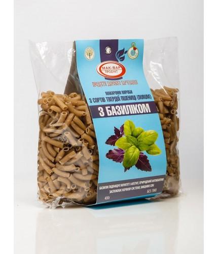 Макароны с базиликом из твердых сортов пшеницы (0,4 кг)