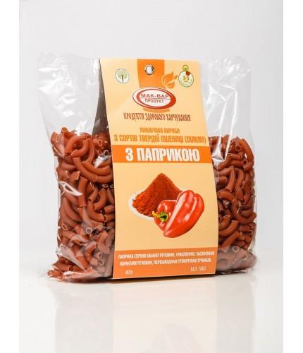 Макароны с паприкой из твердых сортов пшеницы (0,4 кг)