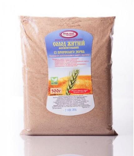 Солод житній ферментований, пакет 500 г
