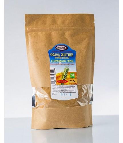Солод ржаной из проросшего зерна, пакет 250 г