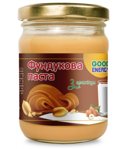 """Фундукова паста з арахісом """"Good Energy"""", 250 г"""